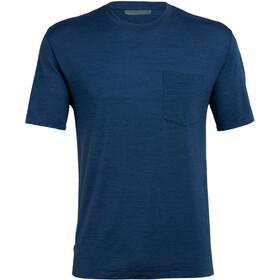 Icebreaker Nature Dye Drayden Camiseta Bolsillo Manga Corta Hombre, true indigo dark